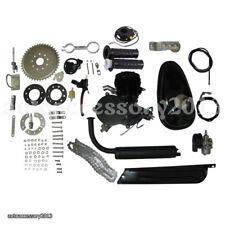 80cc 2-Stroke Gas Motorized Bicycle Kit Bike Petrol Engine Motor Air-cooling Blk