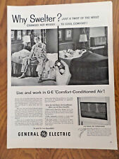 1955 GE General Electric Air conditioners Ad  Why Swelter?