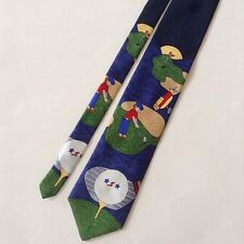 Save The Children Golf Themed Mens Neck Tie A Country Drive by Adrian Age 15