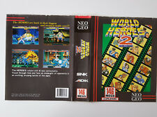 Insert World Heroes 2 US officielle neo geo aes