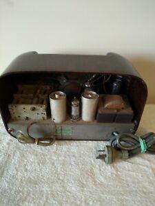 Vintage radio midget bakelite 1950 to 52  fine order . As it comes.