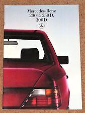 1984-85 Mercedes Benz W124 diesel sales brochure - 200D 250D 300D