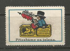 Sello De Publicidad Jabón República Checa Ciervo/Etiqueta