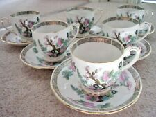 Queen Anne fine bone china England tea set:6 cups,6 saucers