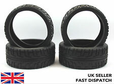 4 x On Road Tarmac RC Buggy/Car/Truck Tyres 1/8 scale & foam inserts 1/8th