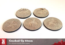 Cracked-up 5 x 40mm round resin bases