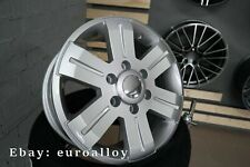 4x 16 inch 6x130 1400KG Mercedes Sprinter VW Crafter silver rim wheels silver