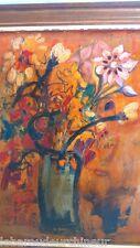 peinture pot de fleur signée painting flower SAUZE Jacques, 20 >