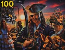 Glow in the Dark Puzzle Fantasy Pirate s Ships Gold 100 Pc Jigsaw New Boxless