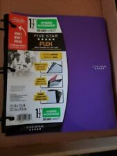 "Five Star Flex Hybrid Notebinder, 1-1/2"" Binder 300 Sheet Notebook Purple"