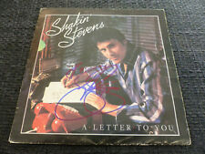 "SHAKIN STEVENS signed signiert Autogramm auf ""A LETTER TO YOU"" Platte InPerson"