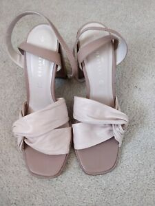Ladies Dusky Pink Leather Strappy sandals size 5 From Next