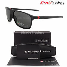 TAG HEUER 27 DEGREE SUNGLASSES BLACK RED PRECISION POLARIZED GREY 6041 909 59