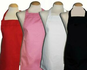 100% cotton aprons 9 -12 yrs - teenage great for school / baking made in UK