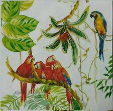 TROPICAL PERIDOTS  TWO(2)  single LUNCH size paper napkins for decoupage 3-ply
