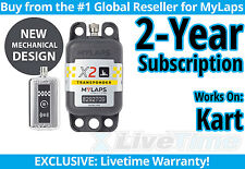 MyLaps X2 Kart Rechargeable Transponder w/ 2-year Subscription -AMB Flex 260