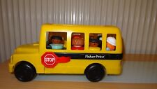 Vintage Fisher Price School Bus Rare with little people