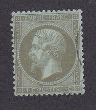 France 1862-71 Used 1c Olive Green Napoleon III President & Emperor France