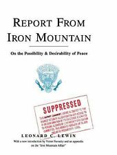 Report from Iron Mountain by Leonard C. Lewin (2008, Paperback)