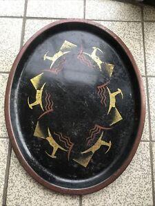 Vintage Biba Oval Drinks Tray