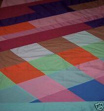 Copriletto patchwork Letto Singolo artigianale Tessuto cotone 100% Stoffa Arredo