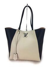 03304a6a9a62 LOUIS VUITTON Lock me cabas shoulder tote bag M42289 Leather Beige Used Ex