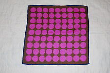 SHOCKING PINK WOOL/SILK POCKET SQUARE/HANDKERCHIEF. NEW