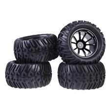 4PCS Wheel Rim & Tires For HSP 1:10 flat racing Car Monster Truck RC 12mm Hub