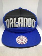 New NBA Orlando Magic Mitchell & Ness Overpull Snapback Hat Cap Blue