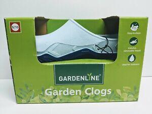 New GardenLine Garden Clogs Mules Slides Teal Size 9/10