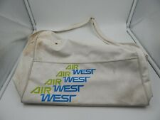 Air West Airlines Vintage Travel Bag White