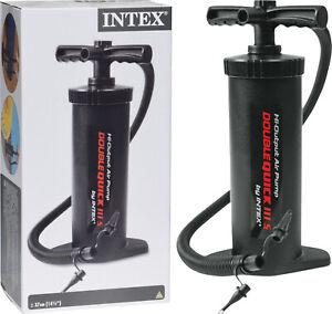 INTEX Luftpumpe Doppelhubpumpe Standpumpe Handpumpe für Pool Luftmatratze NEU