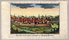 Stuttgart-Gesamtansicht Sommer/Eder Kupferstich 1780