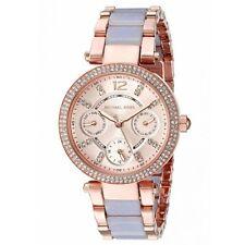 ** Nuevo * Damas KORS Mini Cristal Púrpura Parker MICHAEL 2-Tone Reloj MK6327 £ 259