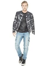 Guess Quilted Camo Bomber Jacket Mens Large New Reticket