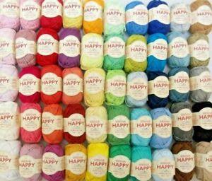 Sirdar Happy Cotton, Perfect Amigurumi Craft Crochet Yarn, 20g Balls. 99p each