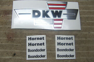 1 Set (2) DKW 125  HORNET/ BOONDOCKER/ ENDURO DECALS