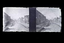Pompei Italie Italia Plaque de verre stereo NEGATIF 1911
