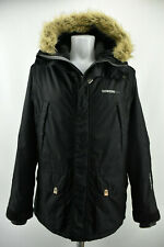 DIDRIKSONS Storm System Mens Parka Jacket Black Waterproof Hooded Long Coat Sz M