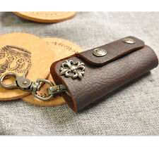 Men Vintage Original Handmade Leather Car Key Holder Wallet Retro Punk Style