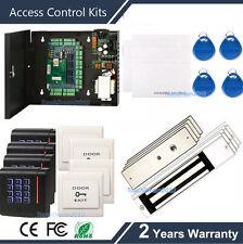 Complete Access Control Management System Kit Password+KeyFob Reader+4 Mag Locks