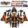 New Fairing Kit ABS Bodywork Cowling fit Honda CBR600RR F5 05 06 black orange
