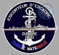 AUTOCOLLANT ARMEE MARINE NATIONALE ESCORTEUR D'ESCADRE DUPERRE D633 EA088