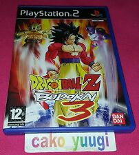 DRAGON BALL Z BUDOKAI 3 SONY PS2 VERSION 100% FRANCAISE BON ETAT