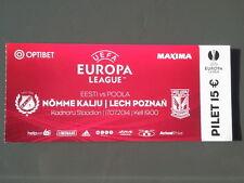 Ticket NOMME KALJU - LECH POZNAN 2014/15 Europa League Estonia Poland Polska