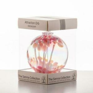 Glass Friendship Attraction Orb Hanging Ornament Handmade Home Gift Sienna