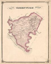 Cumberland County New Jersey 1876 Atlas plat map Genealogy history Dvd P62