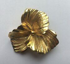 Vintage 1964 Henkel & Grosse Germany 14K Gold Flower Brooch Pin Inscribed FJG