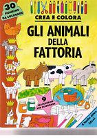 Crea e colora Gli animali della fattoria - Edizioni EL - Libro nuovo in offerta!