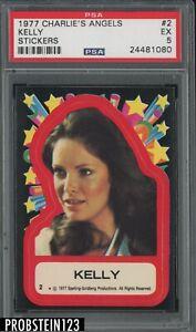 1977 Charlie's Angels Sticker #2 Kelly PSA 5 EX